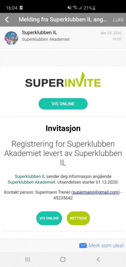Få invitasjonene dine rett i Superinvite Appen